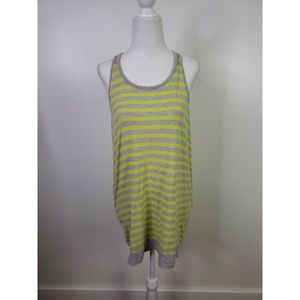 CAbi #843 Sideline Yellow and Gray Tank Sz S EUC